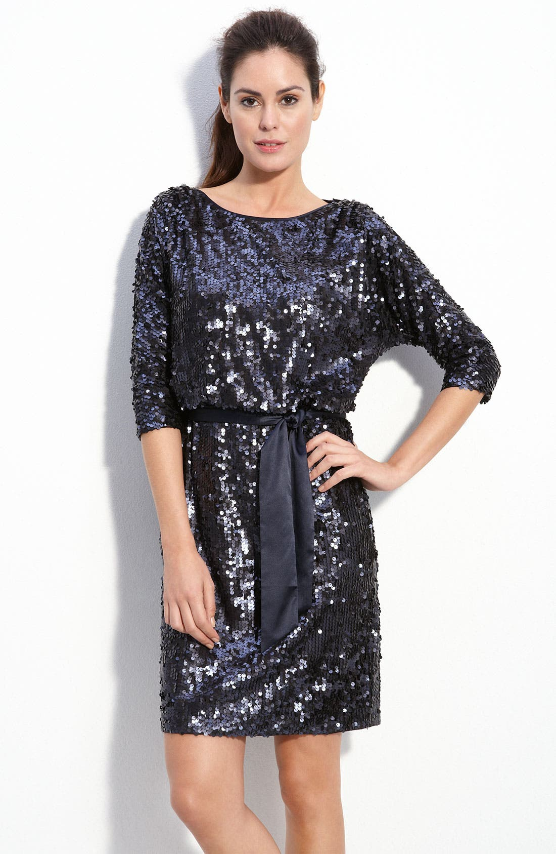 Alternate Image 1 Selected - Eliza J Bloused Sequin Dress