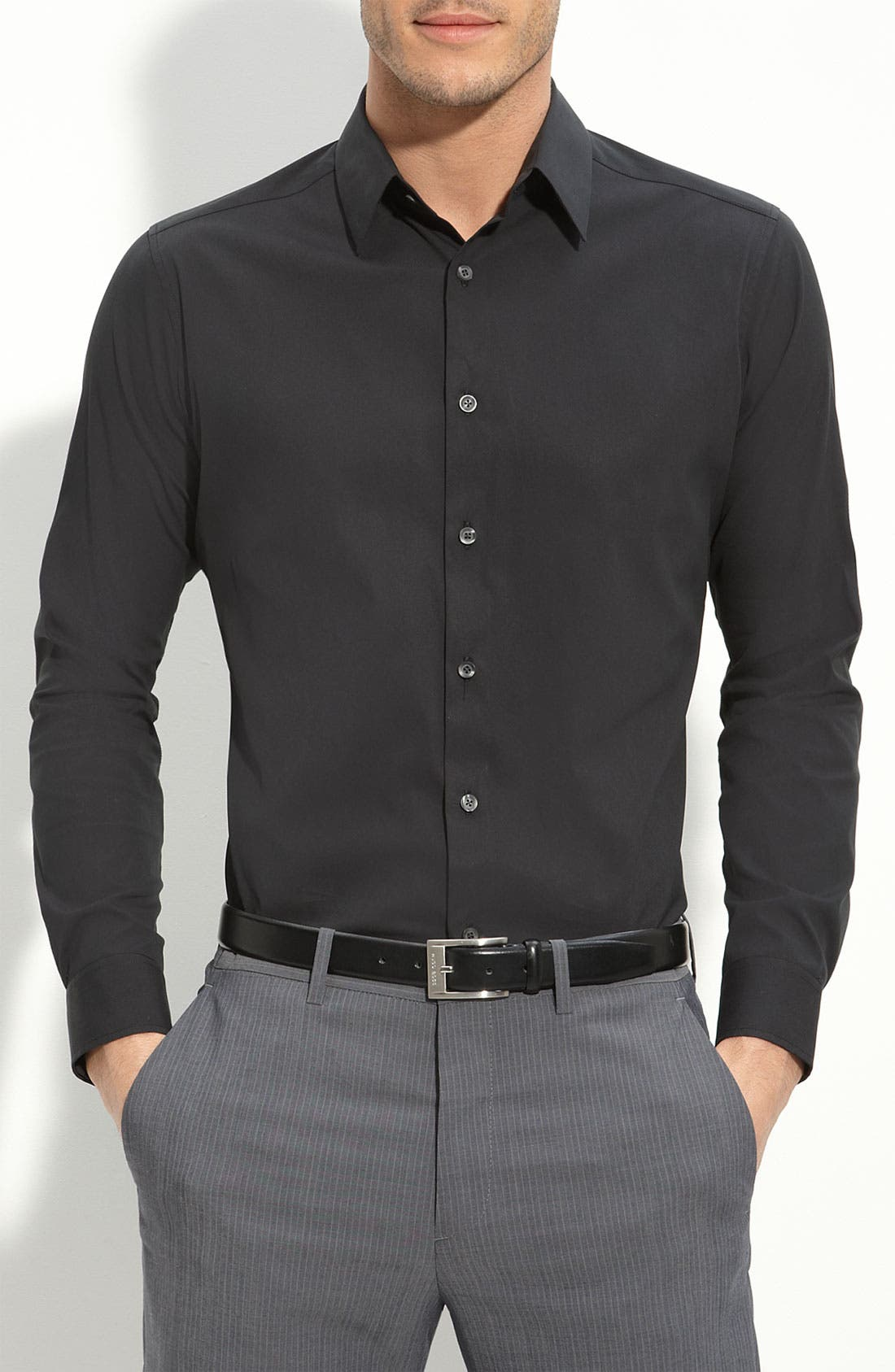 Main Image - Theory Trim Fit Solid Sport Shirt