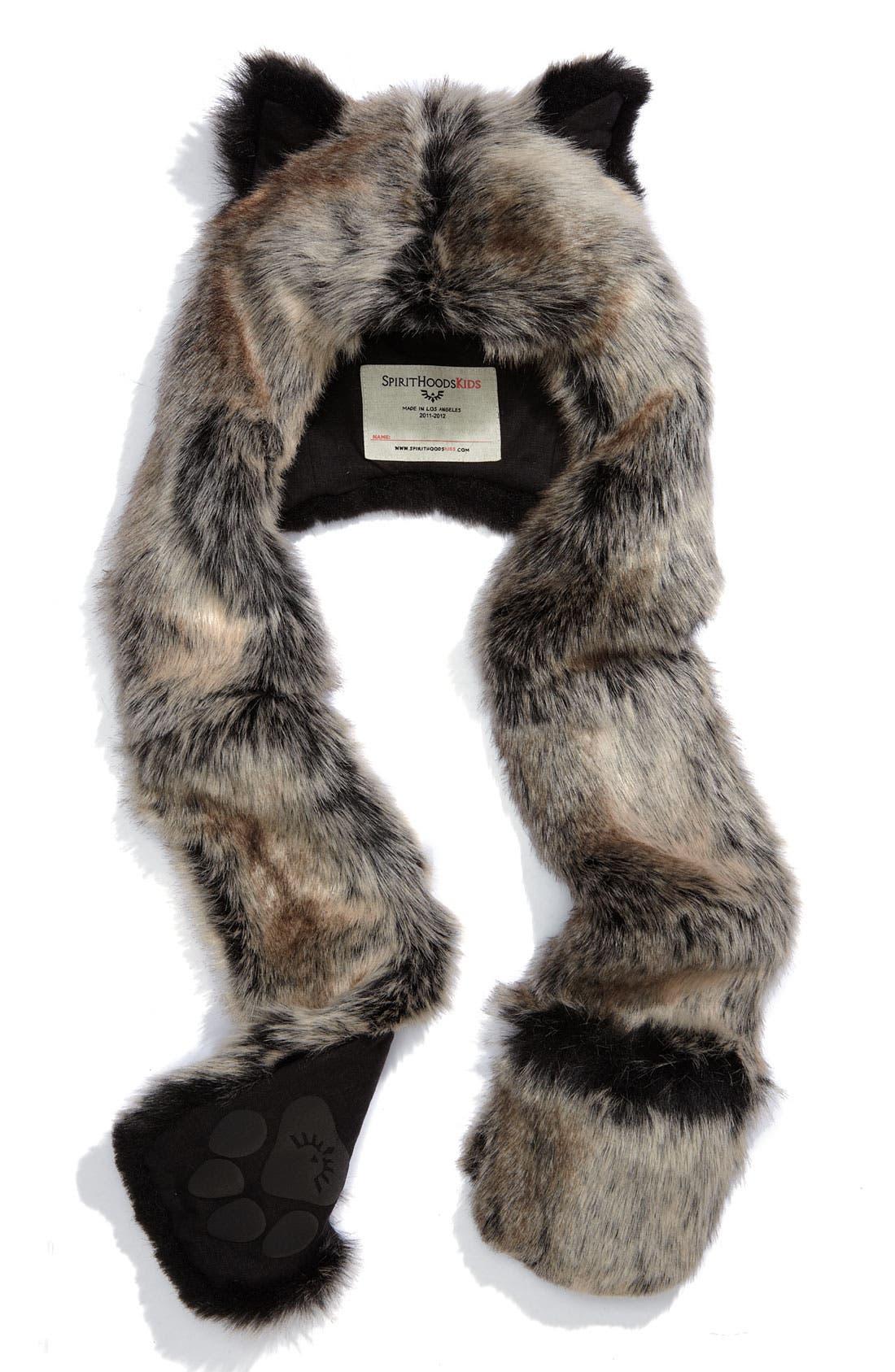 Alternate Image 1 Selected - SpiritHoods Faux Fur Animal Hat (Girls)