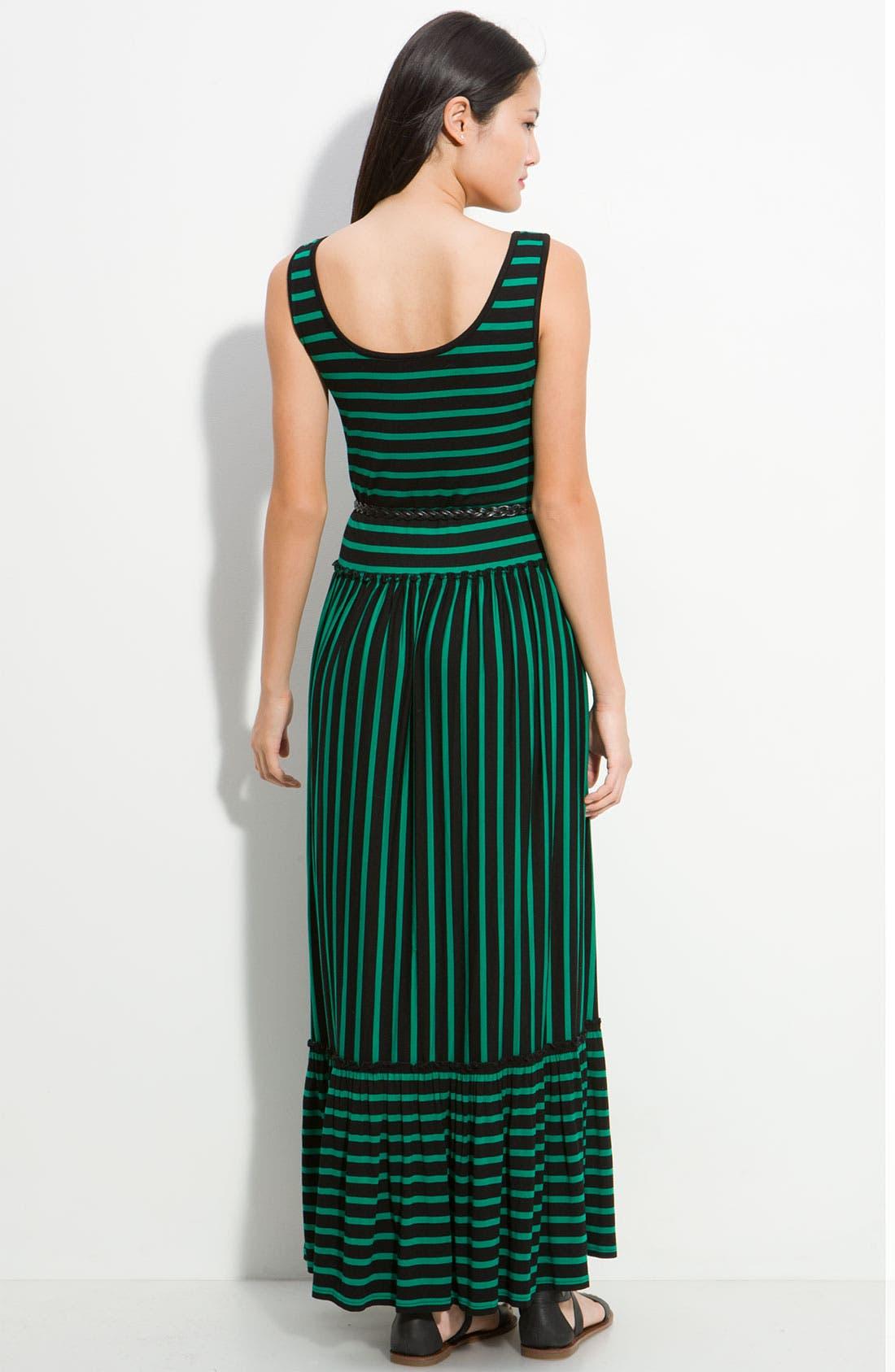 Alternate Image 2  - Calvin Klein Stripe Maxi Dress