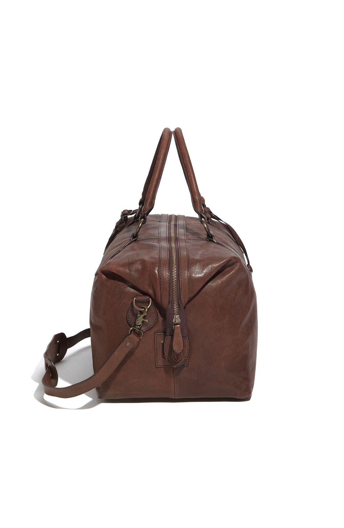 Alternate Image 4  - Frye 'Logan' Leather Overnight Bag