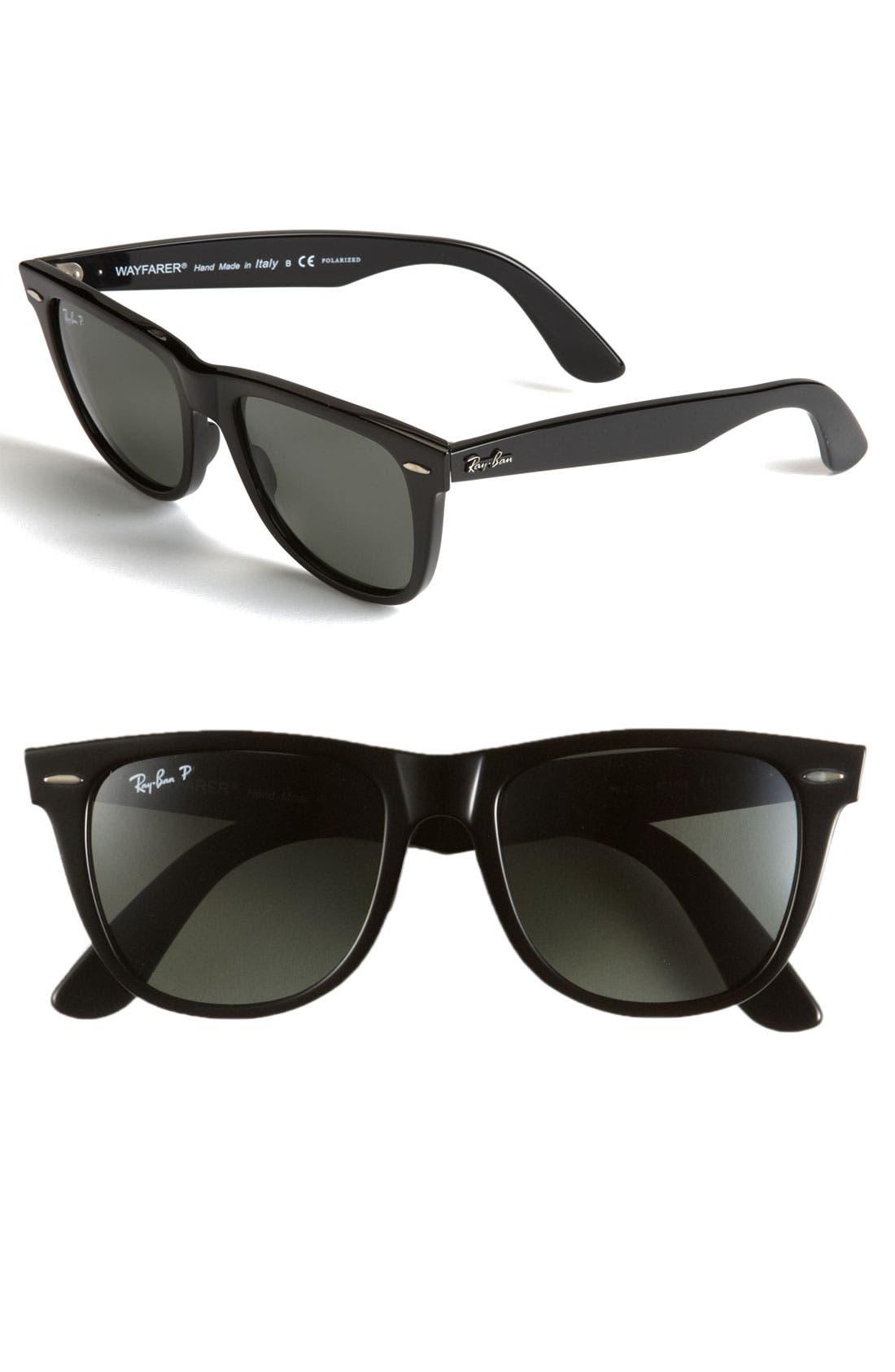 Alternate Image 1 Selected - Ray-Ban 'Classic Wayfarer' Polarized 54mm Sunglasses