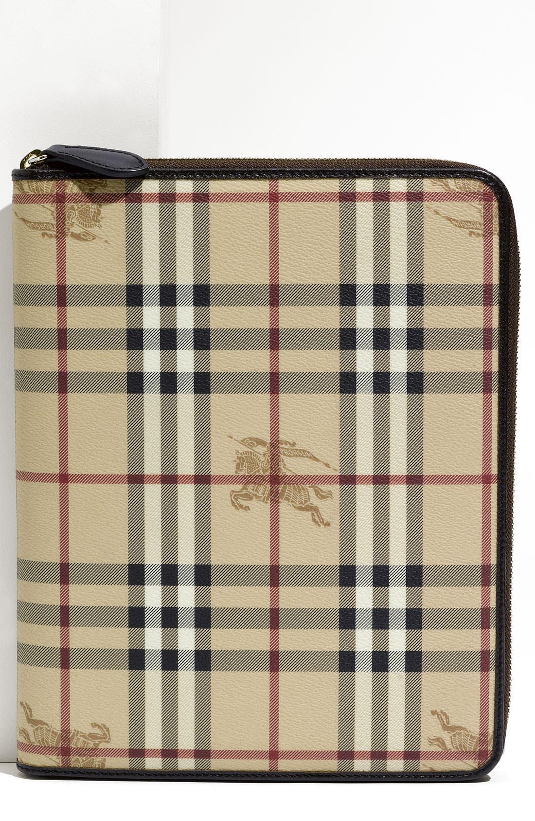 Main Image - Burberry 'Haymarket Check' Zip Around iPad 2 Case