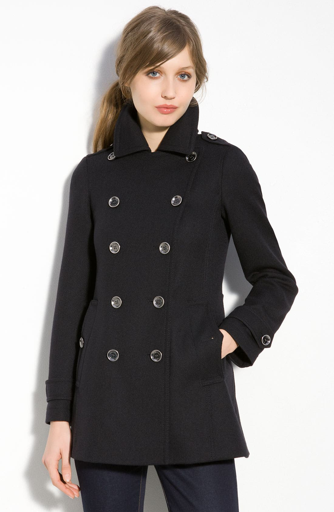 Alternate Image 1 Selected - Burberry Brit Double Breasted Coat