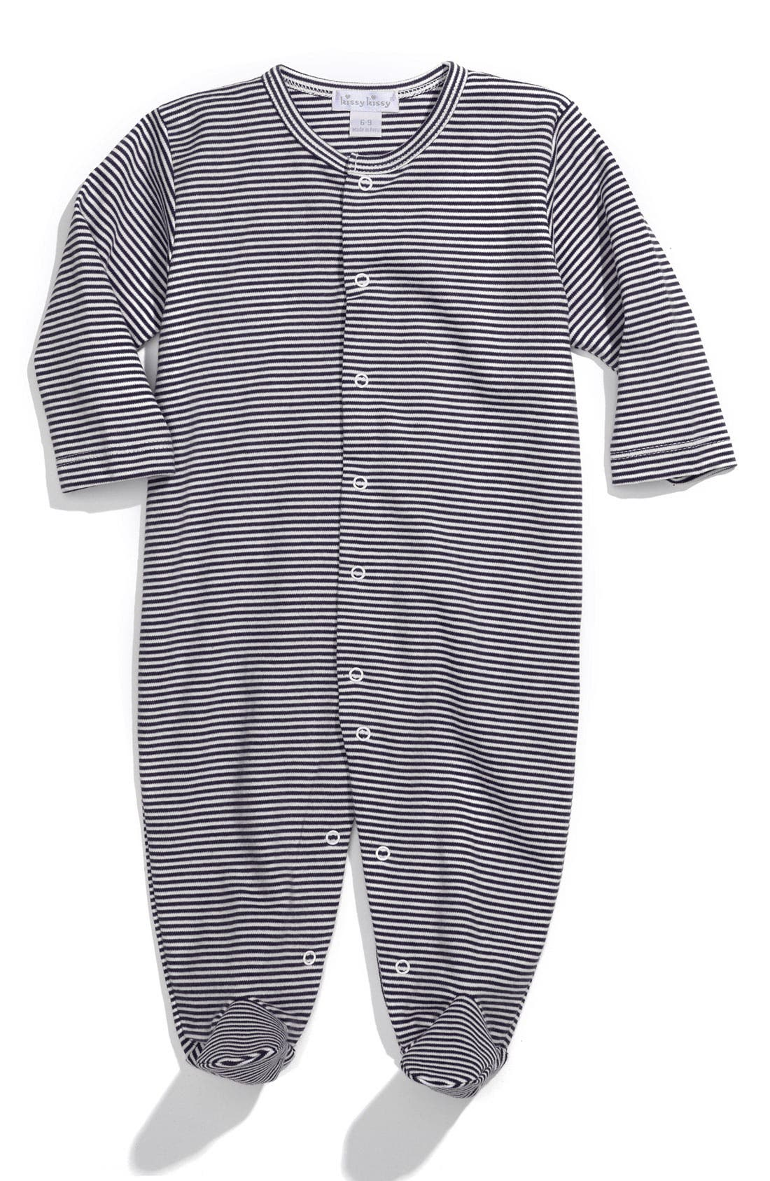 Alternate Image 1 Selected - Kissy Kissy Stripe Footie (Infant)