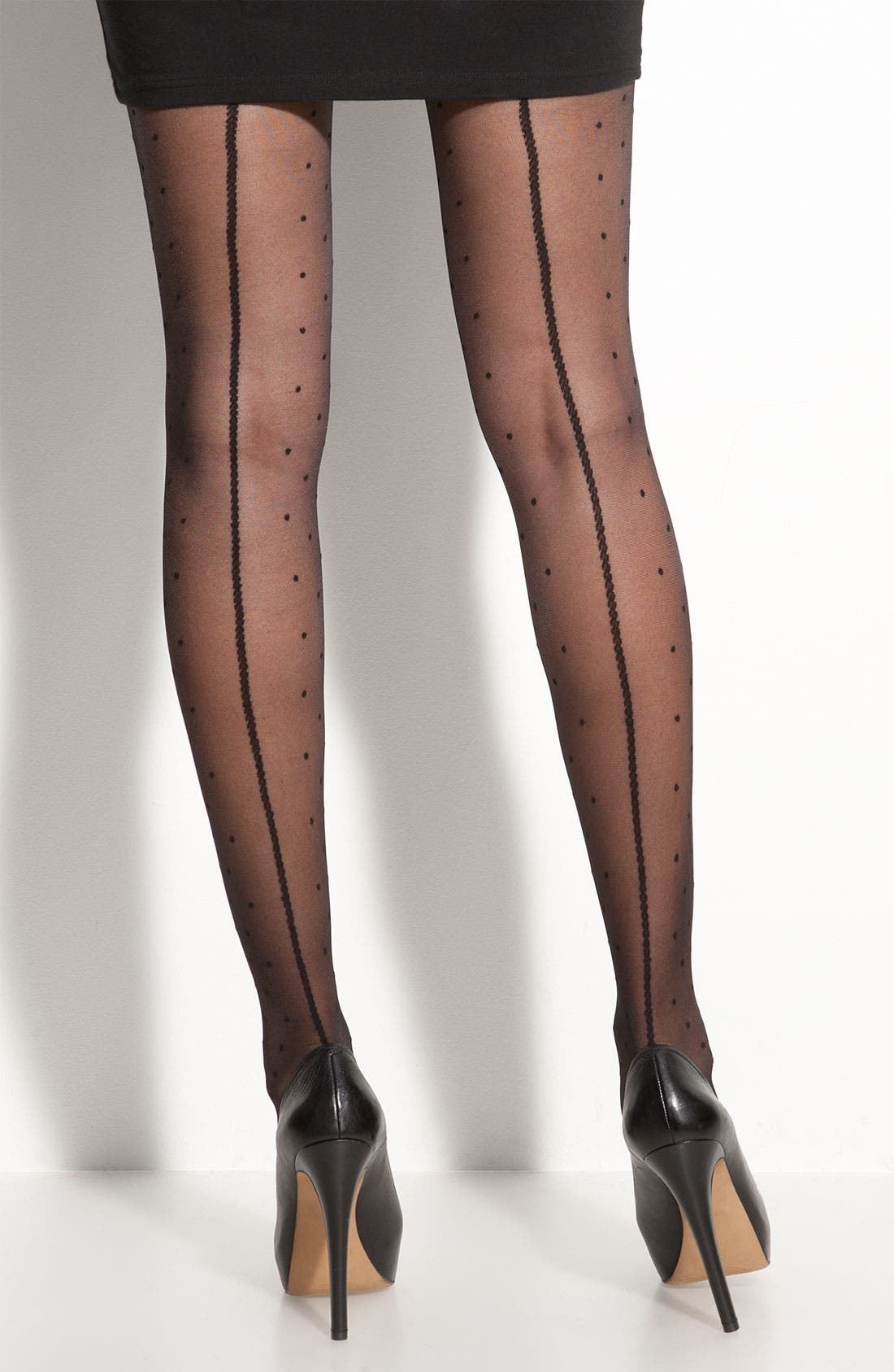 Alternate Image 2  - Nordstrom 'Back Seam Dot' Stockings