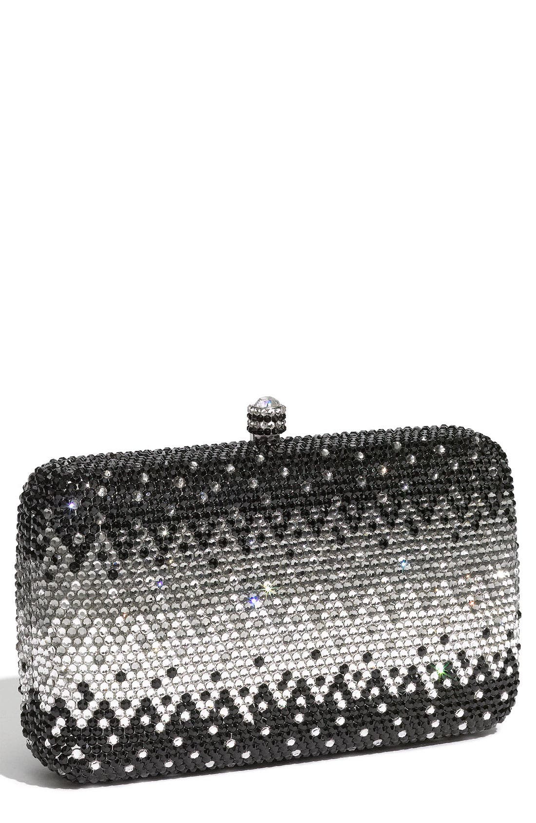 Main Image - Natasha Couture Rhinestone Box Clutch