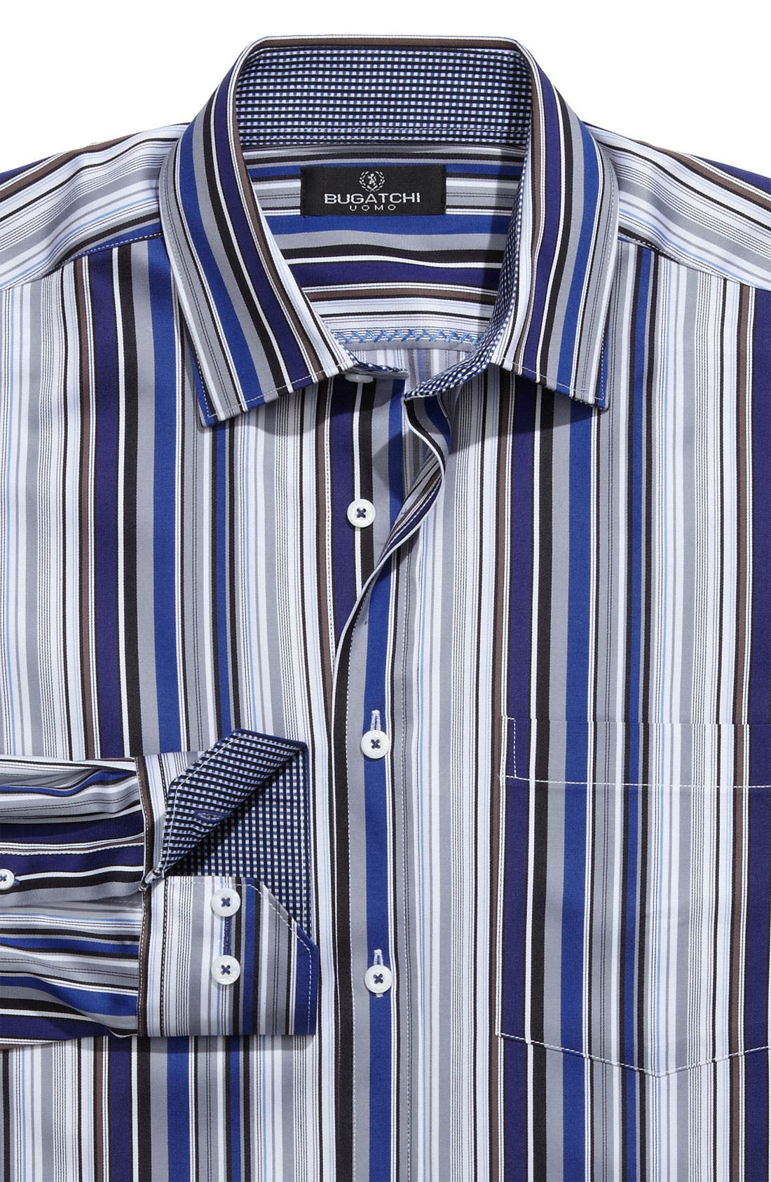 Alternate Image 1 Selected - Bugatchi Uomo Woven Sport Shirt