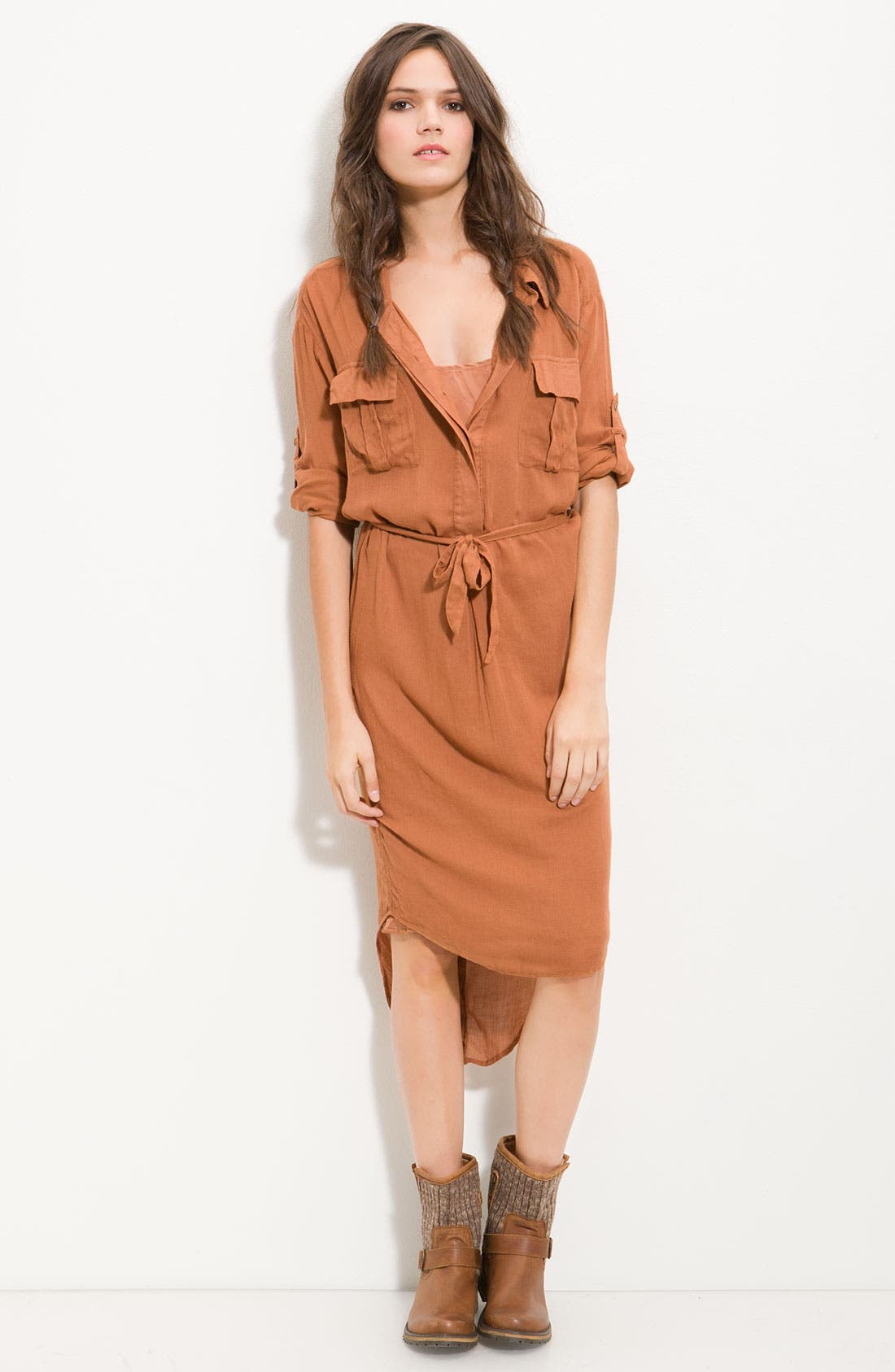 Alternate Image 1 Selected - Free People 'Casual Friday' Campaign Shirt Dress