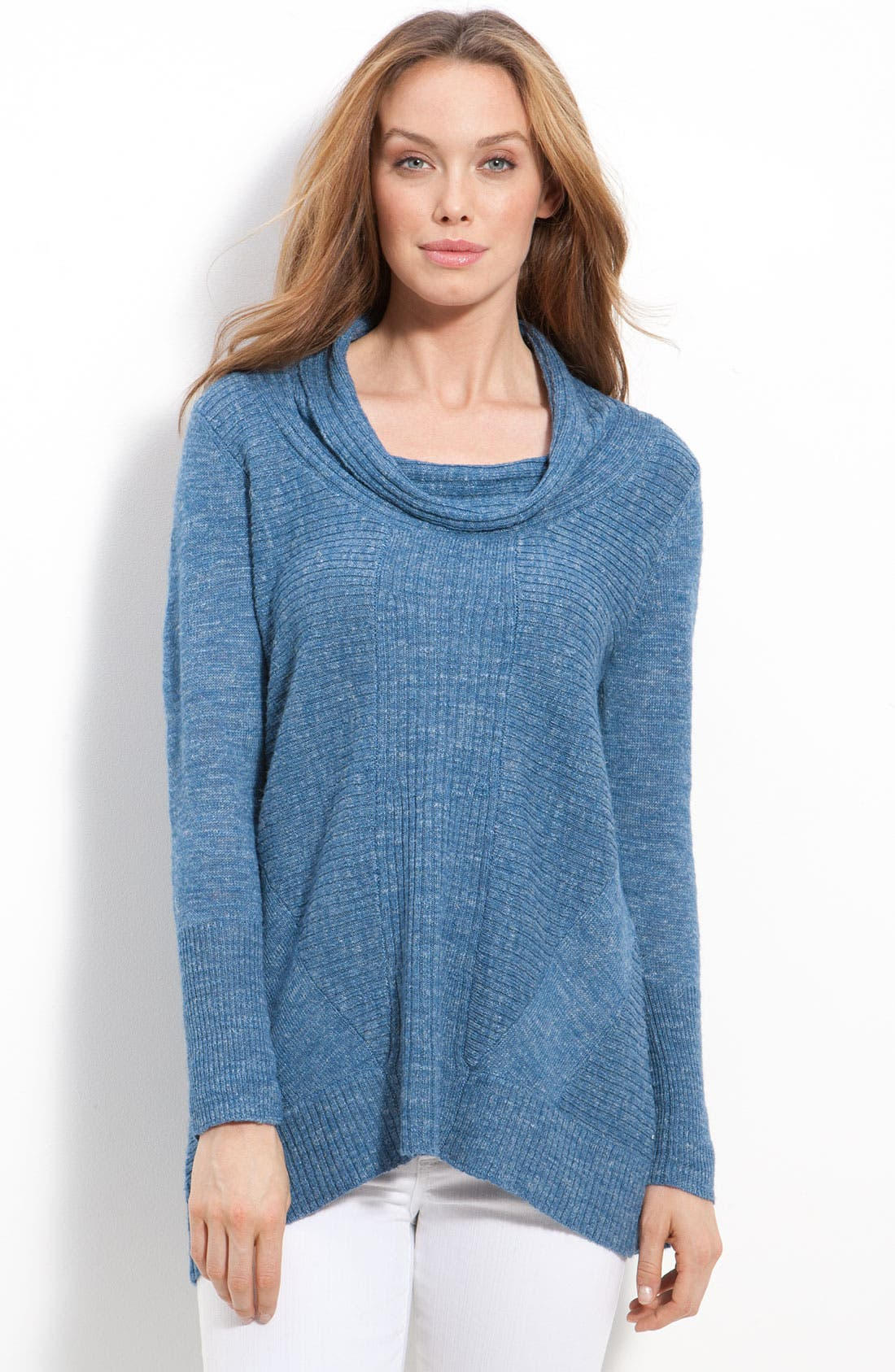 Main Image - Eileen Fisher Cowl Neck Textured Sweater