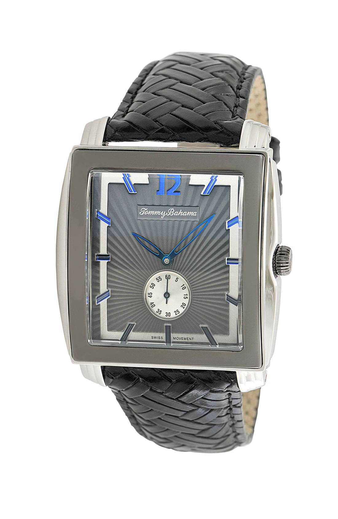 Alternate Image 1 Selected - Tommy Bahama 'Cairo' Square Face Leather Strap Watch