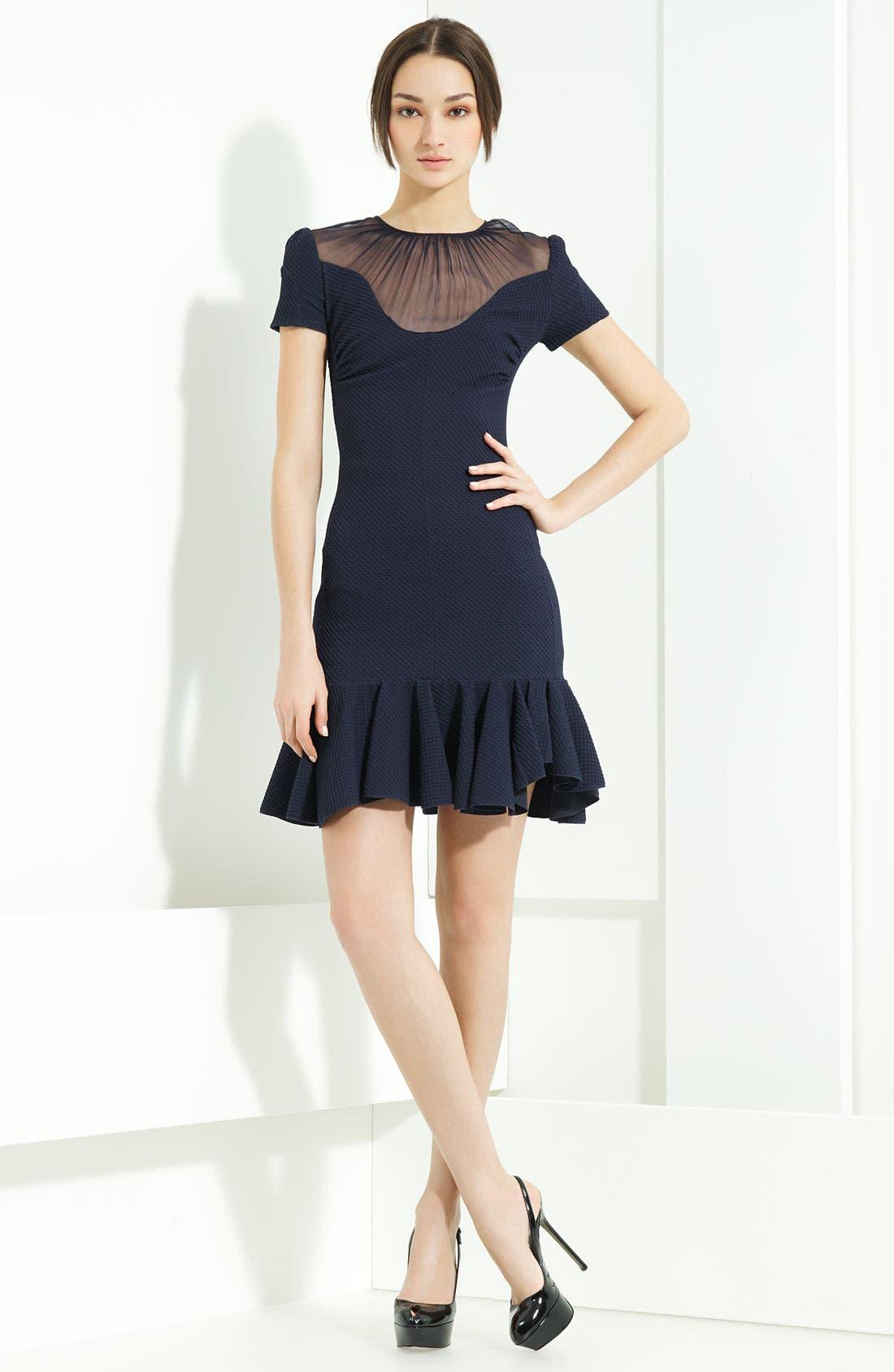 Main Image - Nina Ricci Stretch Honeycomb Knit Dress