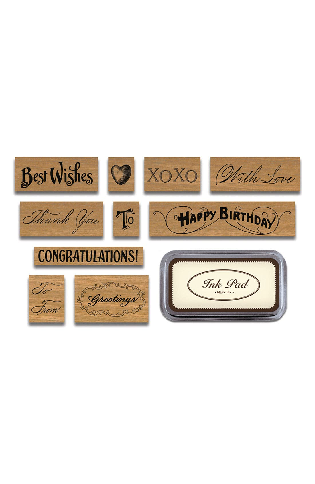 Alternate Image 2  - Cavallini & Co. 'Greetings' Rubber Stamps