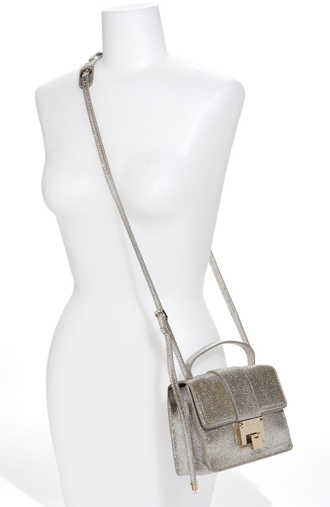 Alternate Image 2  - Jimmy Choo 'Rebel Mini' Glitter Leather Crossbody Bag