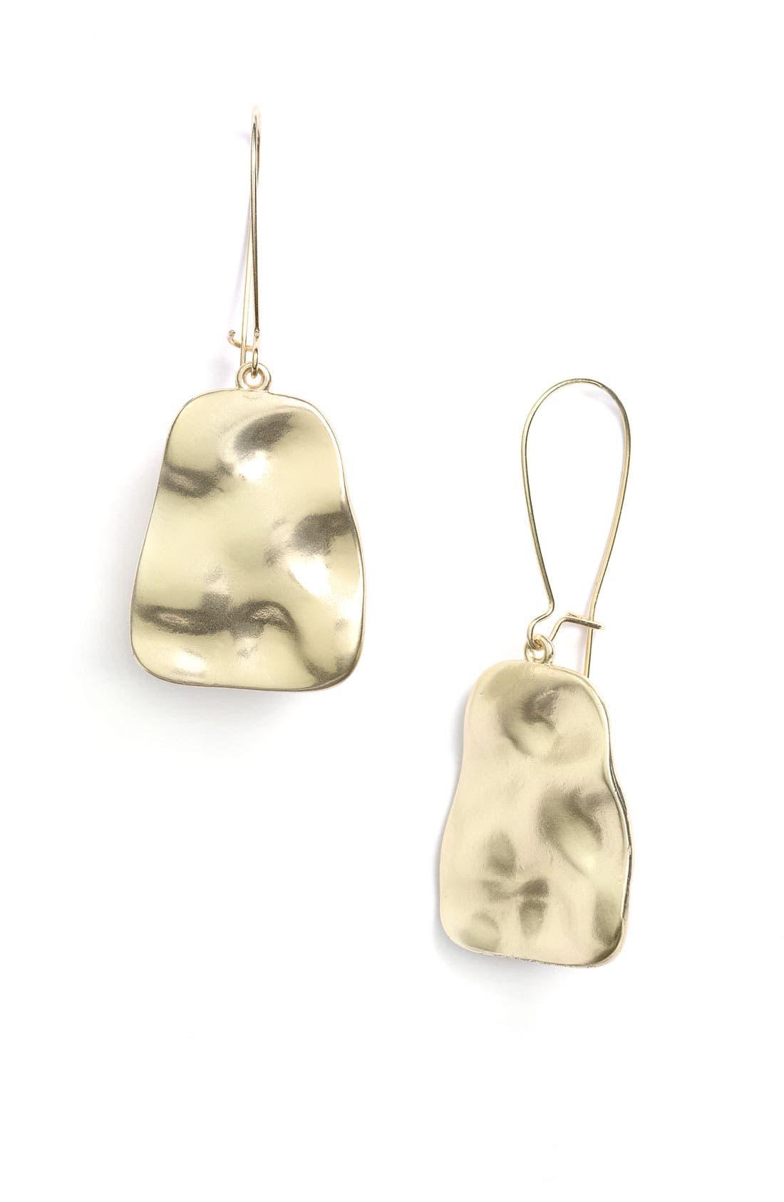 Alternate Image 1 Selected - Nordstrom 'Gold Water' Textured Drop Earrings