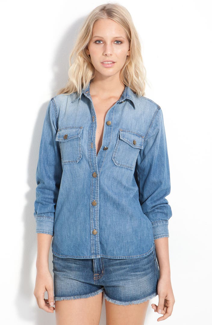 current elliott 39 the perfect 39 denim shirt nordstrom