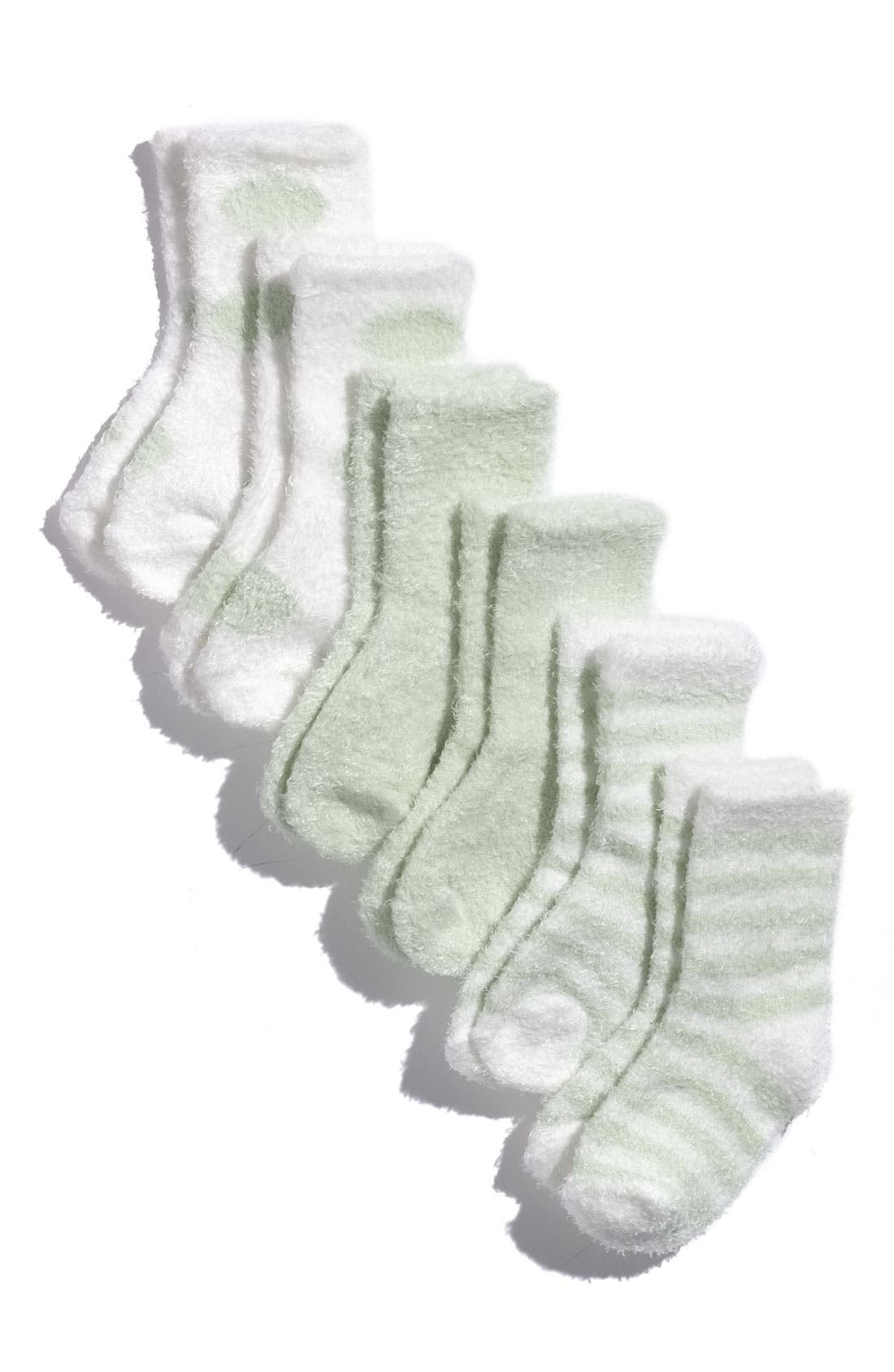 Alternate Image 2  - Little Giraffe Socks (6-Pack) (Baby)