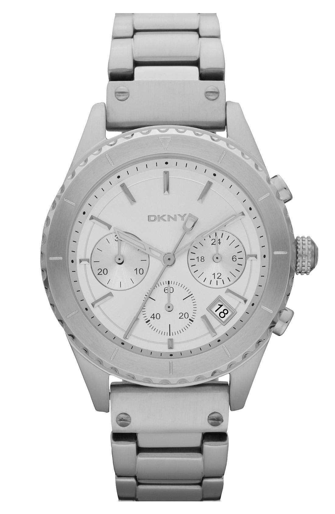 Alternate Image 1 Selected - DKNY 'Street Smart' Chronograph Notched Bezel Watch