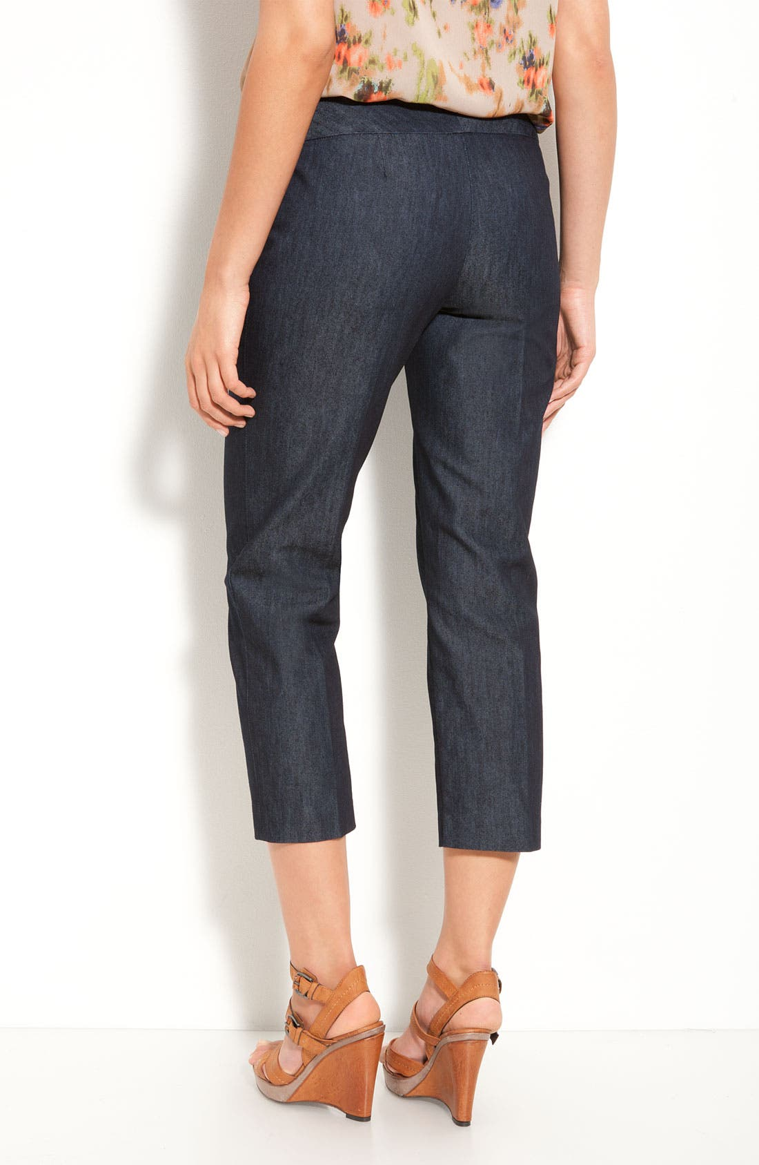 Alternate Image 2  - Halogen® 'Taylor' Curvy Fit Stretch Denim Crop Pants