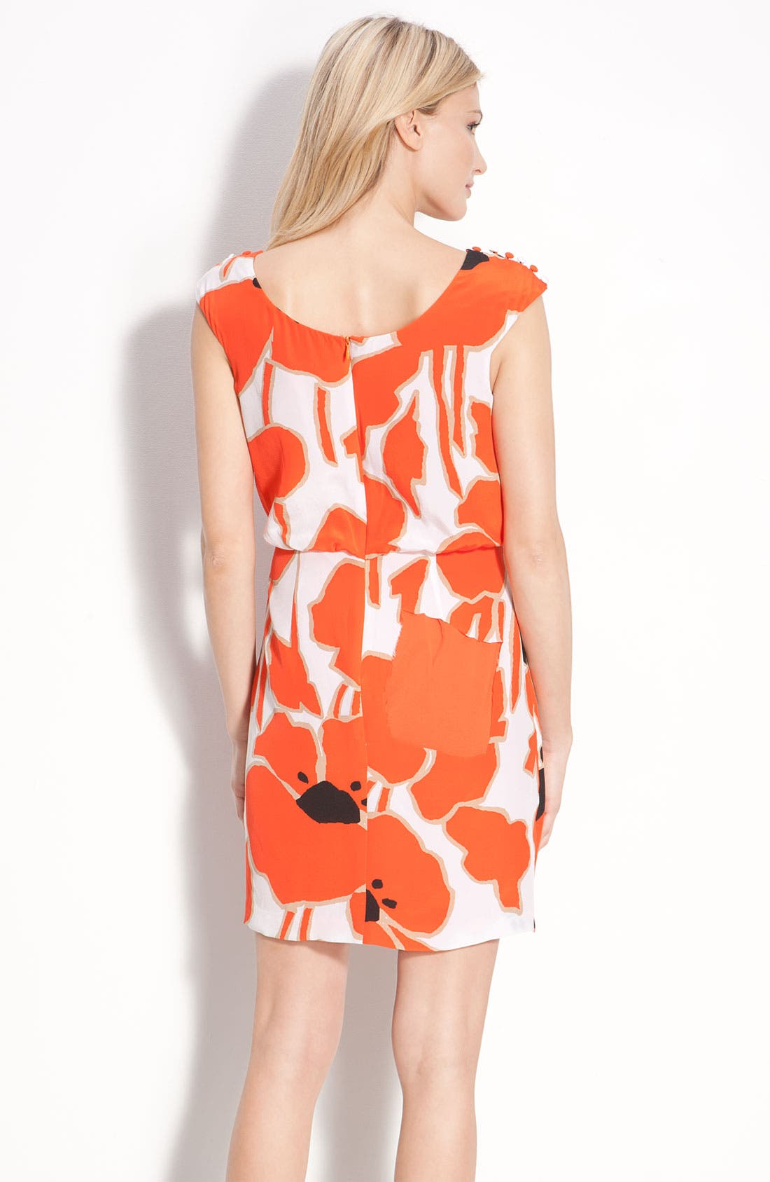 Alternate Image 2  - Jessica Simpson Button Detail Pleat Front Dress