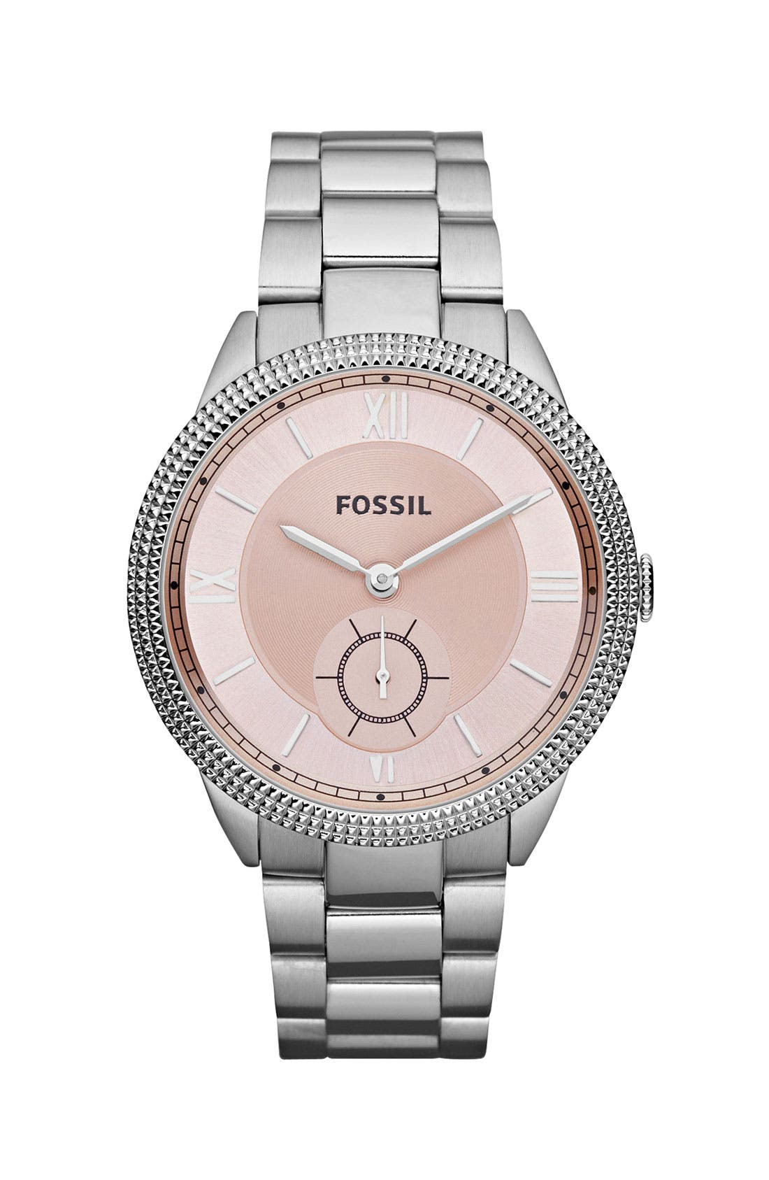 Alternate Image 1 Selected - Fossil 'Sydney' Colored Dial Bracelet Watch