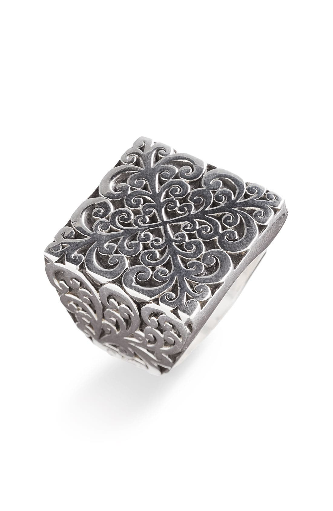 Main Image - Lois Hill 'Silver Flat Geo' Square Cutout Ring