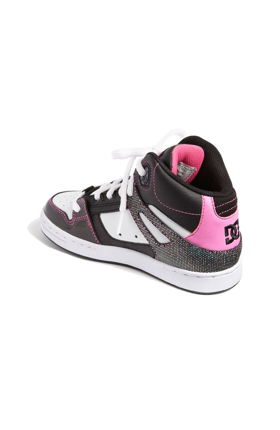 Alternate Image 2  - DC Shoes 'Rebound' Skate Shoe (Little Kid & Big Kid)