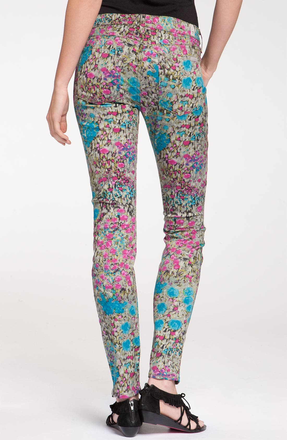 Main Image - 7 For All Mankind® 'The Skinny' Print Jeans (Garden Party Floral)