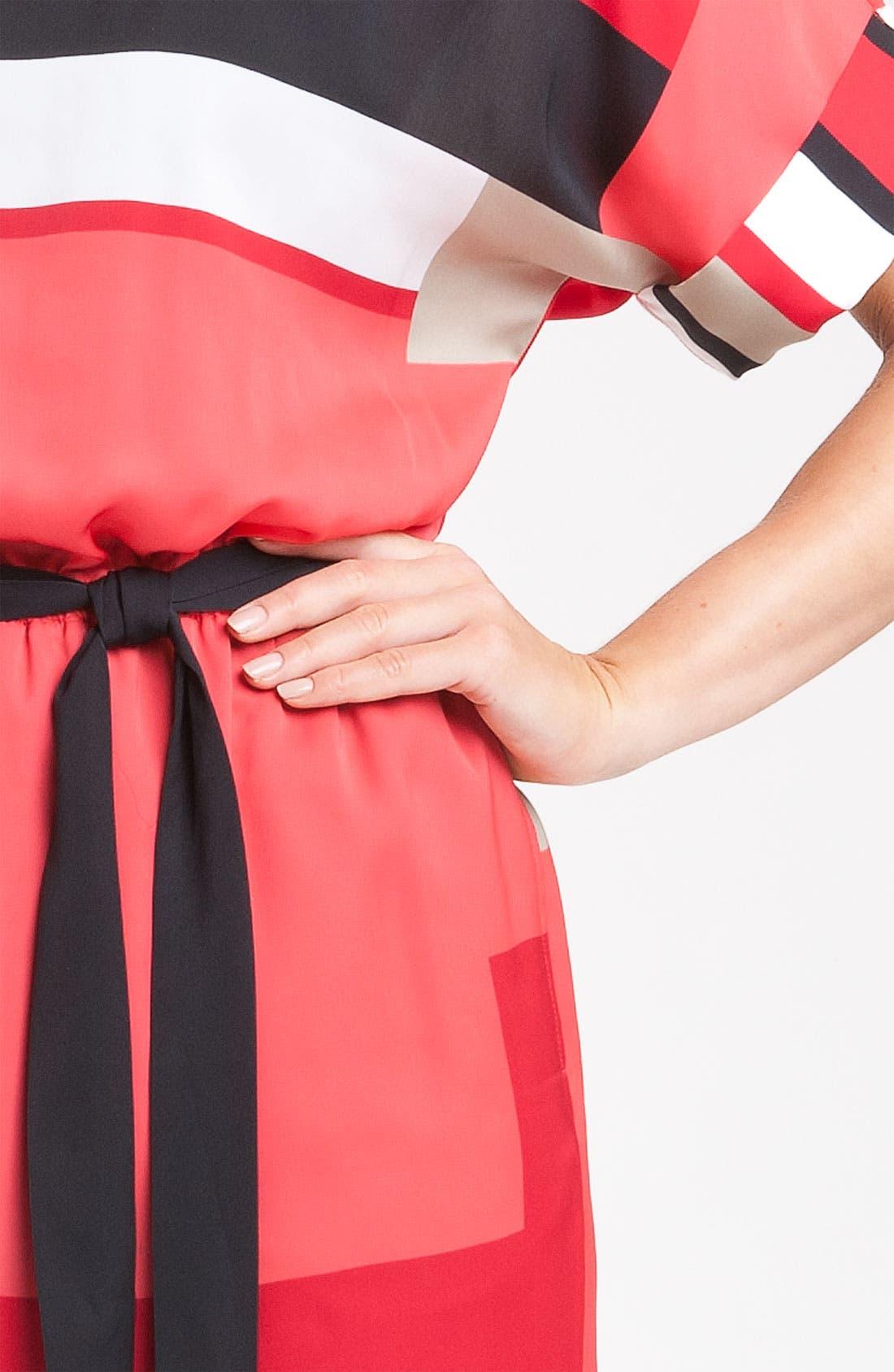 Alternate Image 3  - DKNYC Short Sleeve Geometric Print Dress