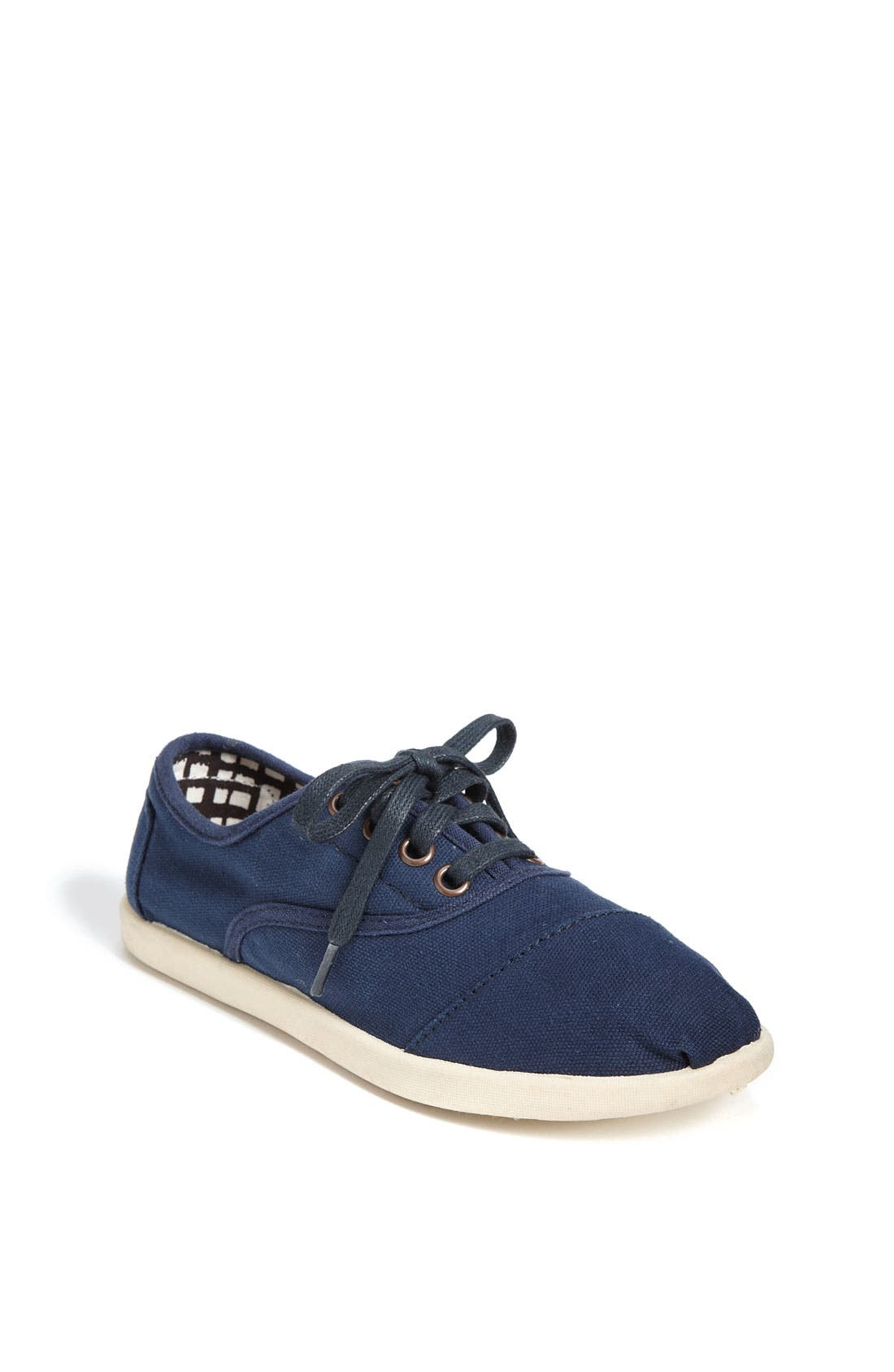 Main Image - TOMS 'Cordones - Youth' Canvas Slip-On (Toddler, Little Kid & Big Kid)