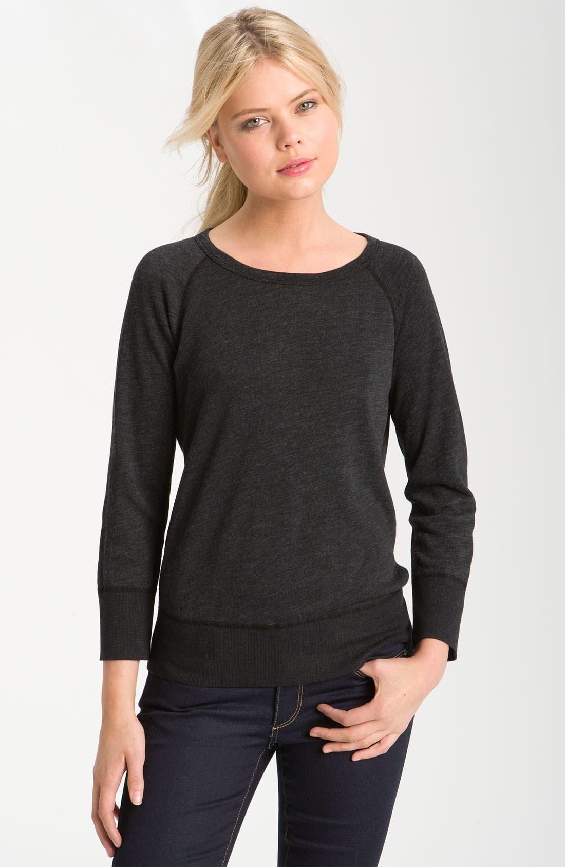 Alternate Image 1 Selected - Hudson Jeans & James Perse Sweatshirt