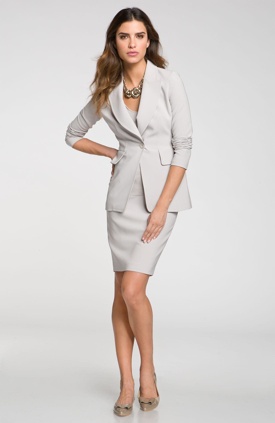 Alternate Image 1 Selected - St. John Collection Blazer & Skirt