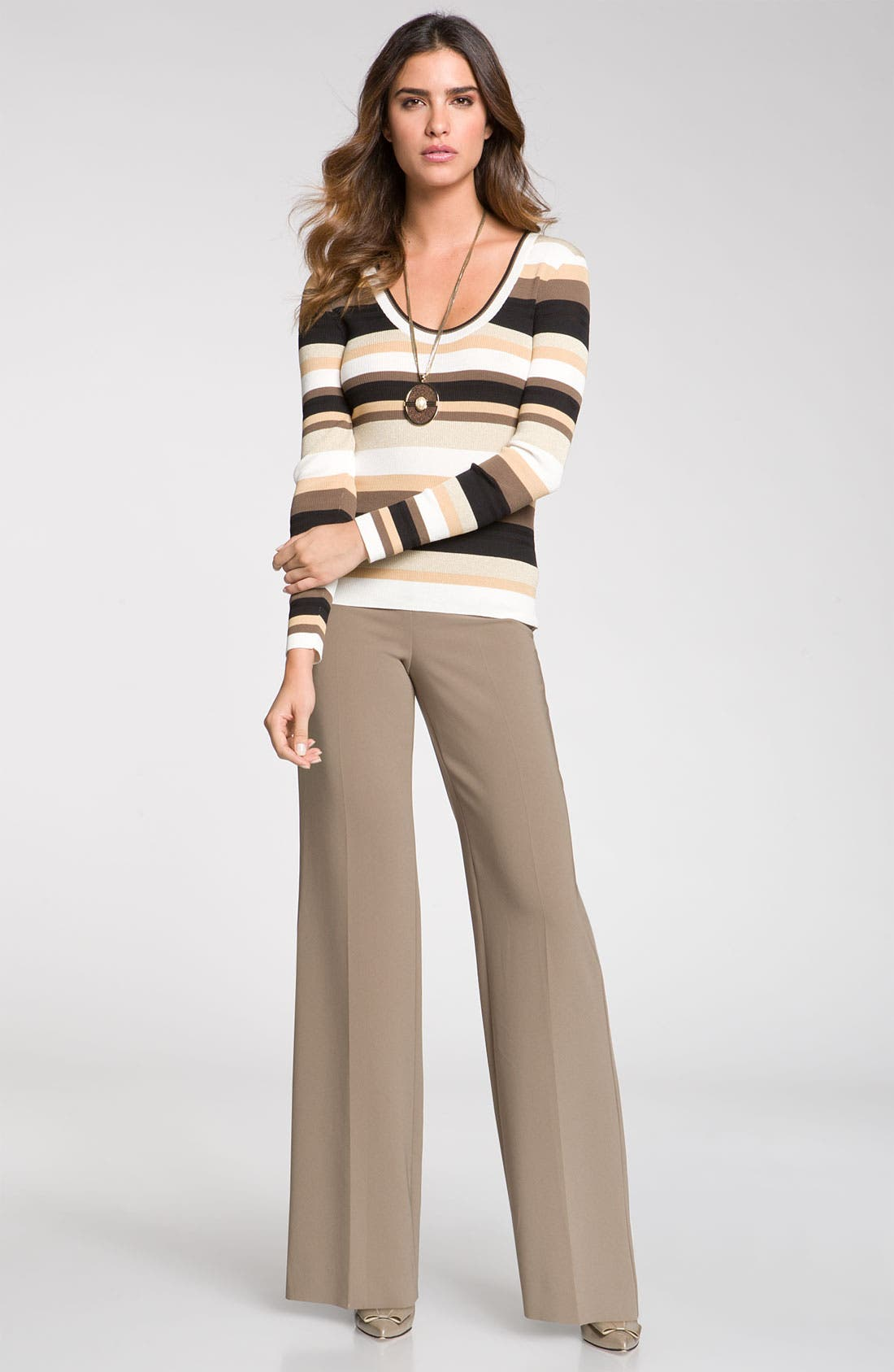 Alternate Image 3  - St. John Collection Wide Leg Crepe Marocain Pants