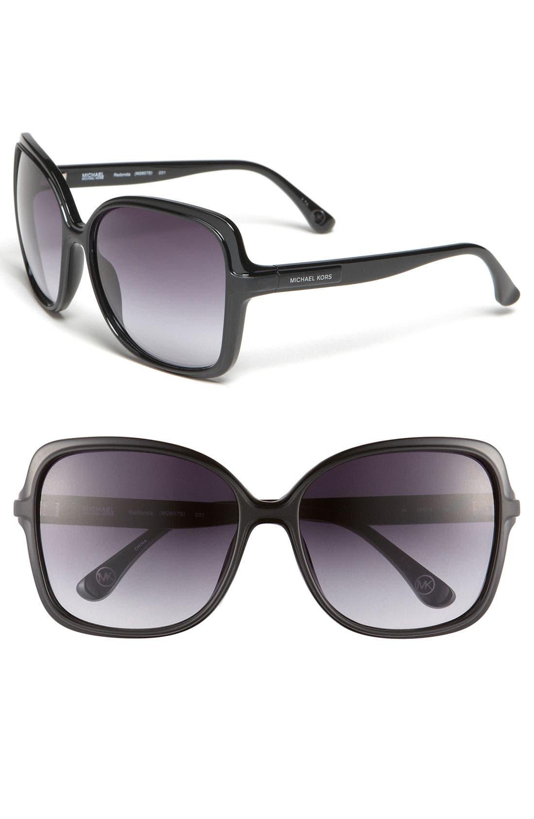 Main Image - MICHAEL Michael Kors 'Redonda' 59mm Square Sunglasses