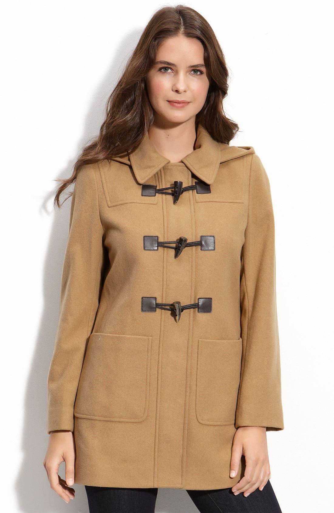 Alternate Image 1 Selected - MICHAEL Michael Kors Toggle Coat with Detachable Hood (Petite)
