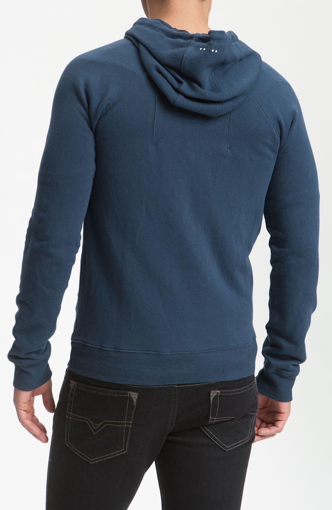Alternate Image 2  - J.C. Rags Washed Zip Fleece Hoodie