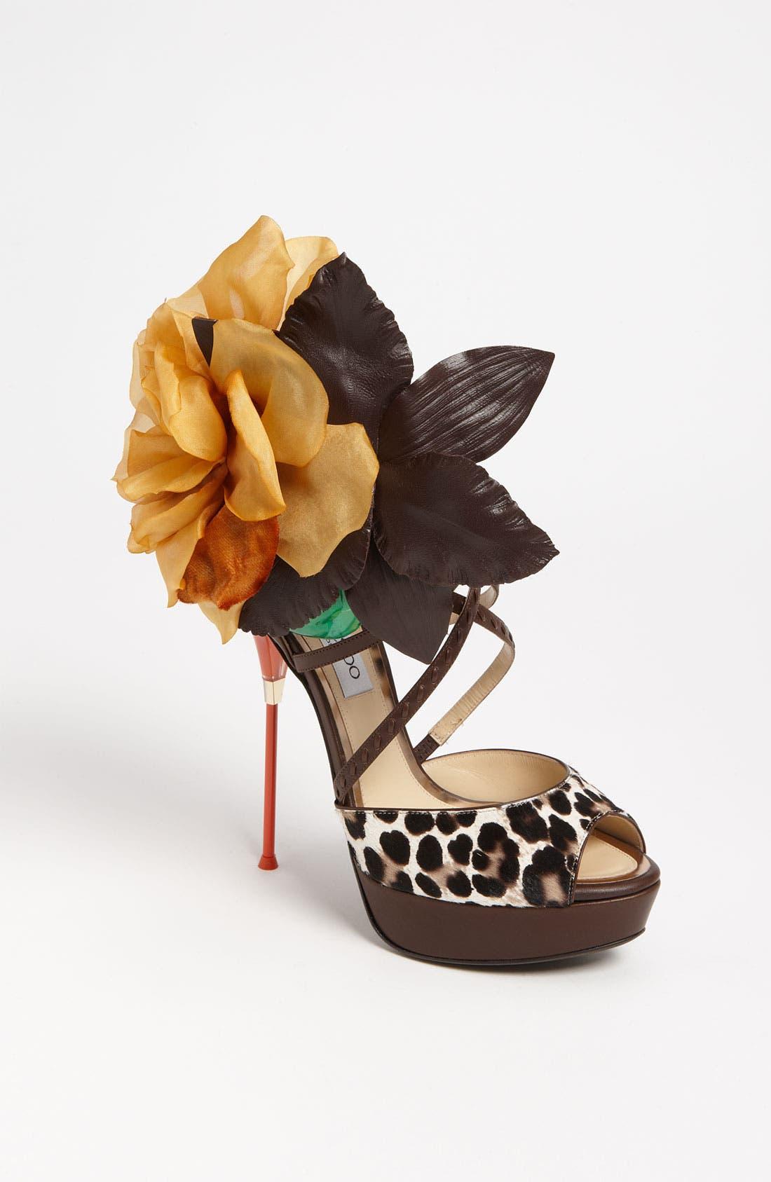 Alternate Image 1 Selected - Jimmy Choo 'Mira Flower' Sandal