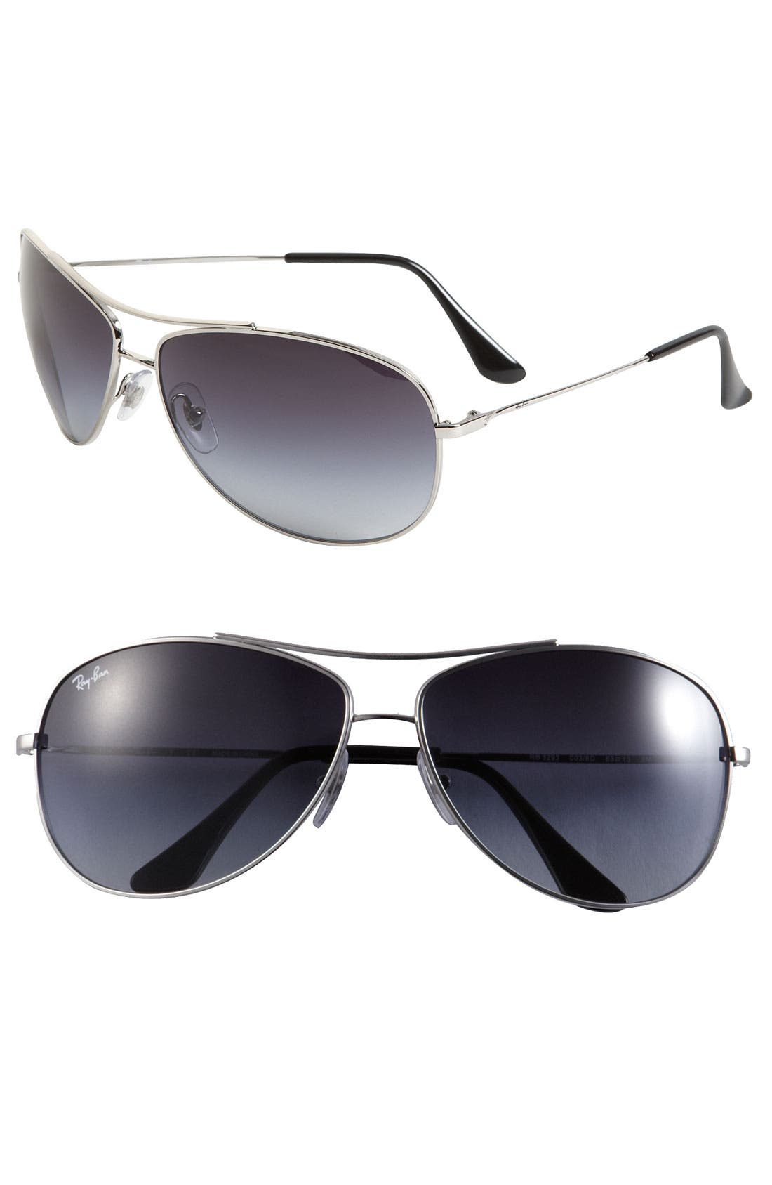 Main Image - Ray-Ban 'Bubble Wrap' 63mm Aviator Sunglasses
