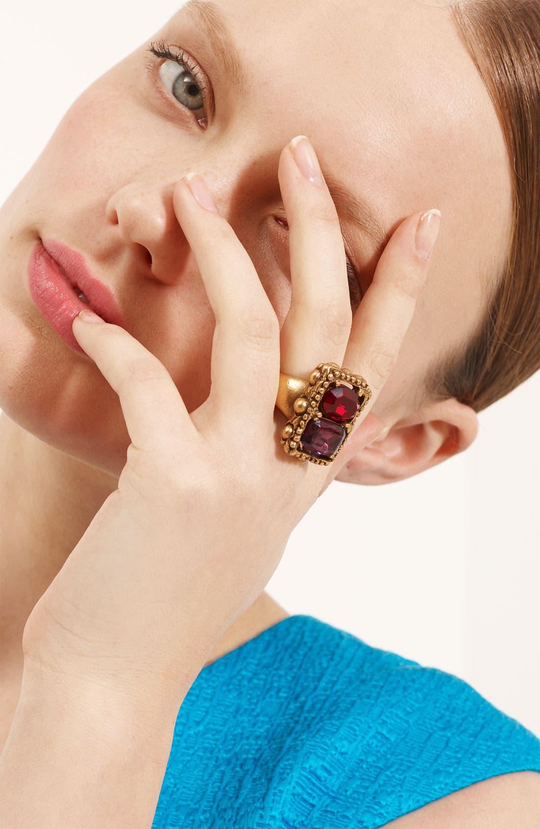 Main Image - Oscar de la Renta Faceted Stone Ring