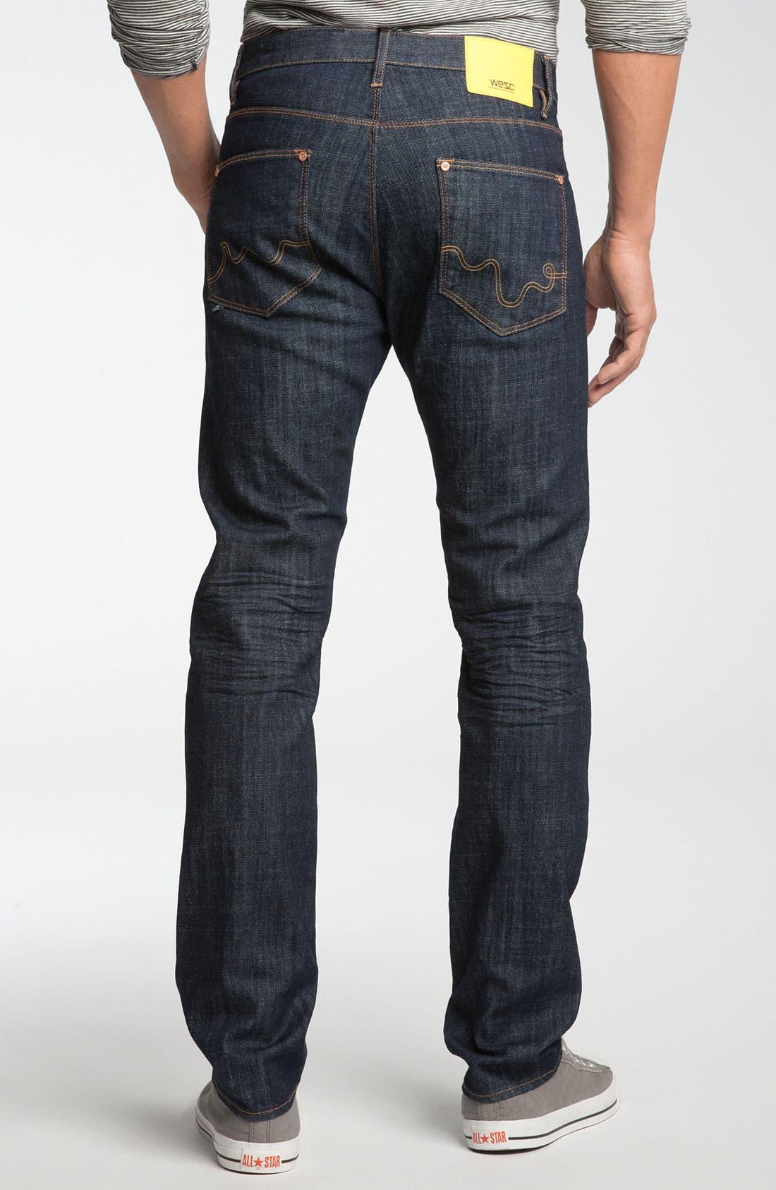 Alternate Image 1 Selected - WeSC 'Eddy' Slim Fit Jeans (Bright)