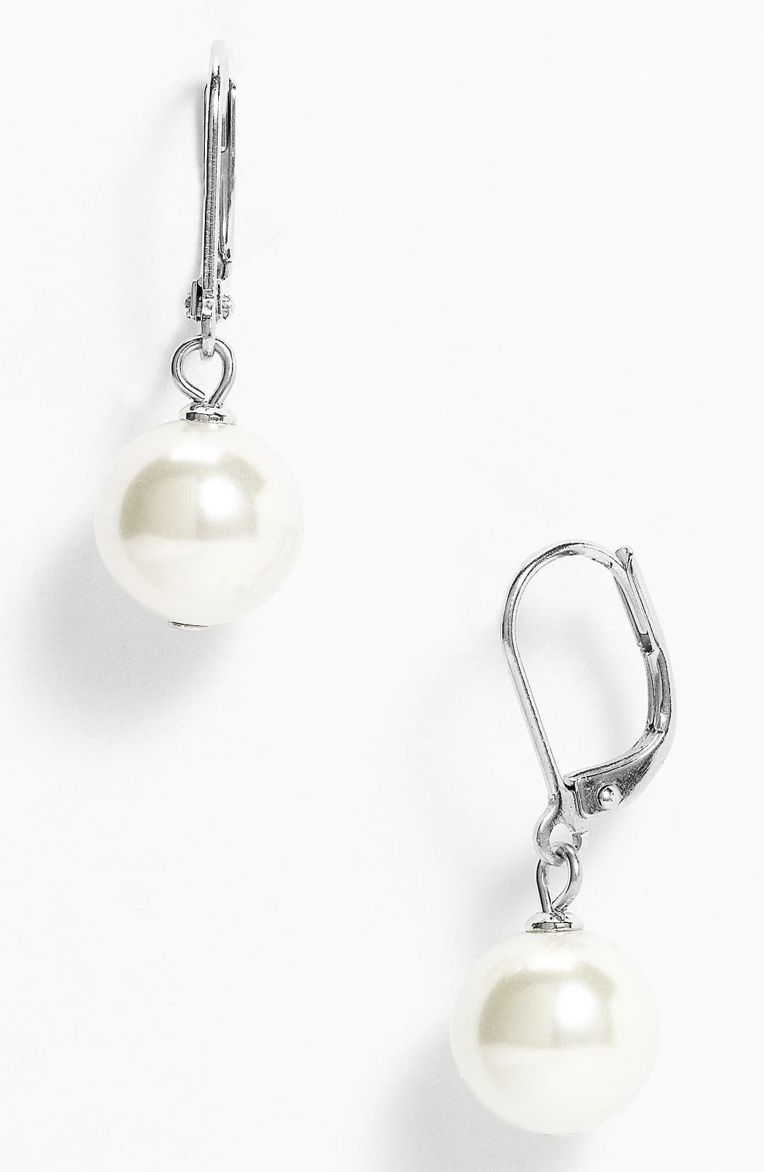 Alternate Image 1 Selected - Givenchy Glass Pearl Drop Earrings