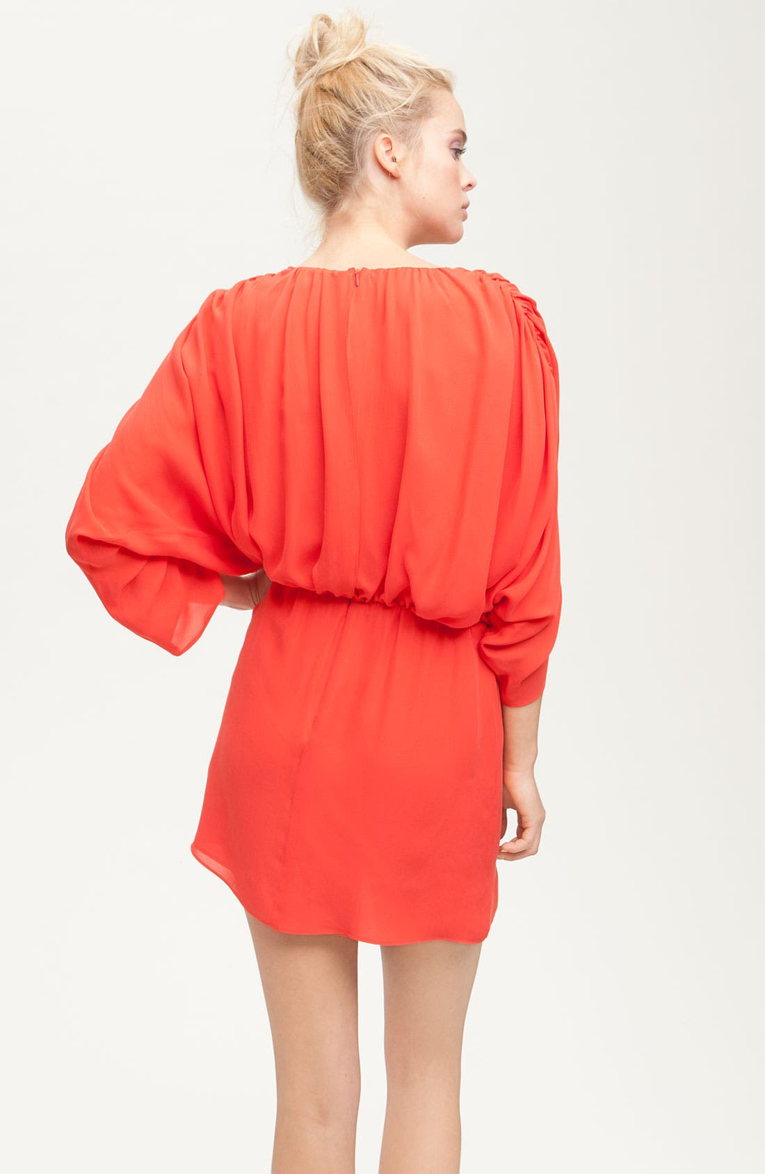 Alternate Image 2  - Parker Gathered Silk Dress