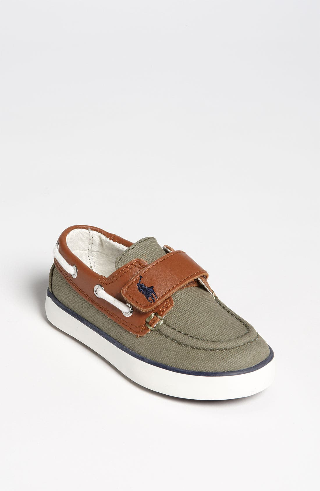 Alternate Image 1 Selected - Ralph Lauren Kids Boat Shoe (Baby, Walker & Toddler)
