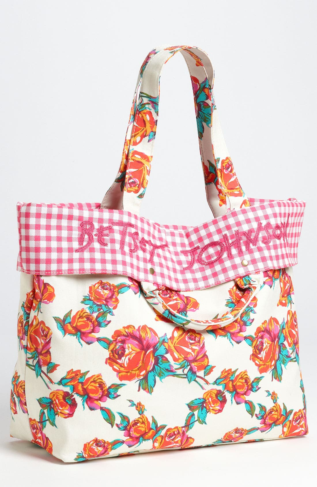 Alternate Image 1 Selected - Betsey Johnson Rose Print Tote