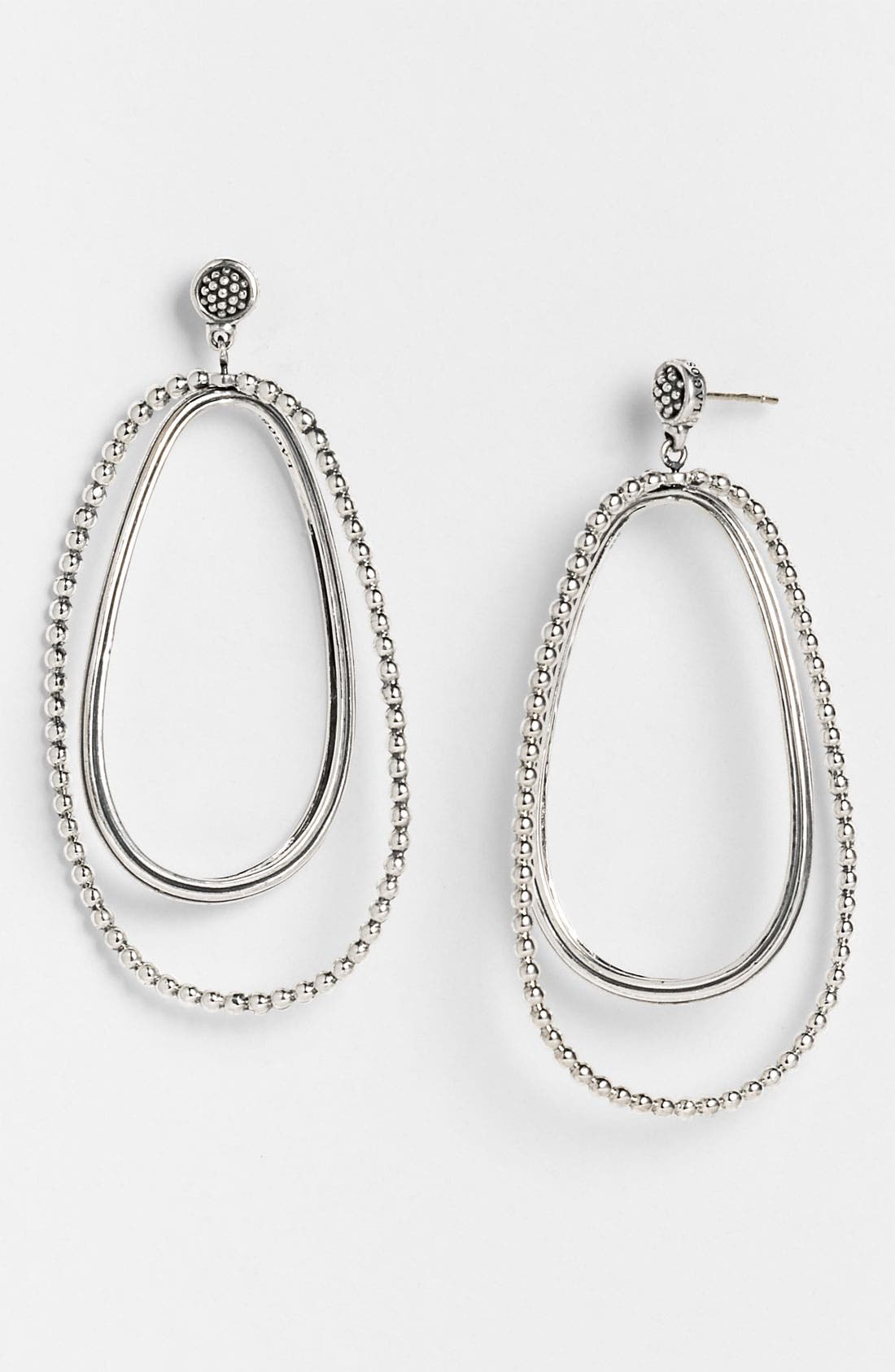 Alternate Image 1 Selected - LAGOS Caviar Oval Twist Statement Earrings