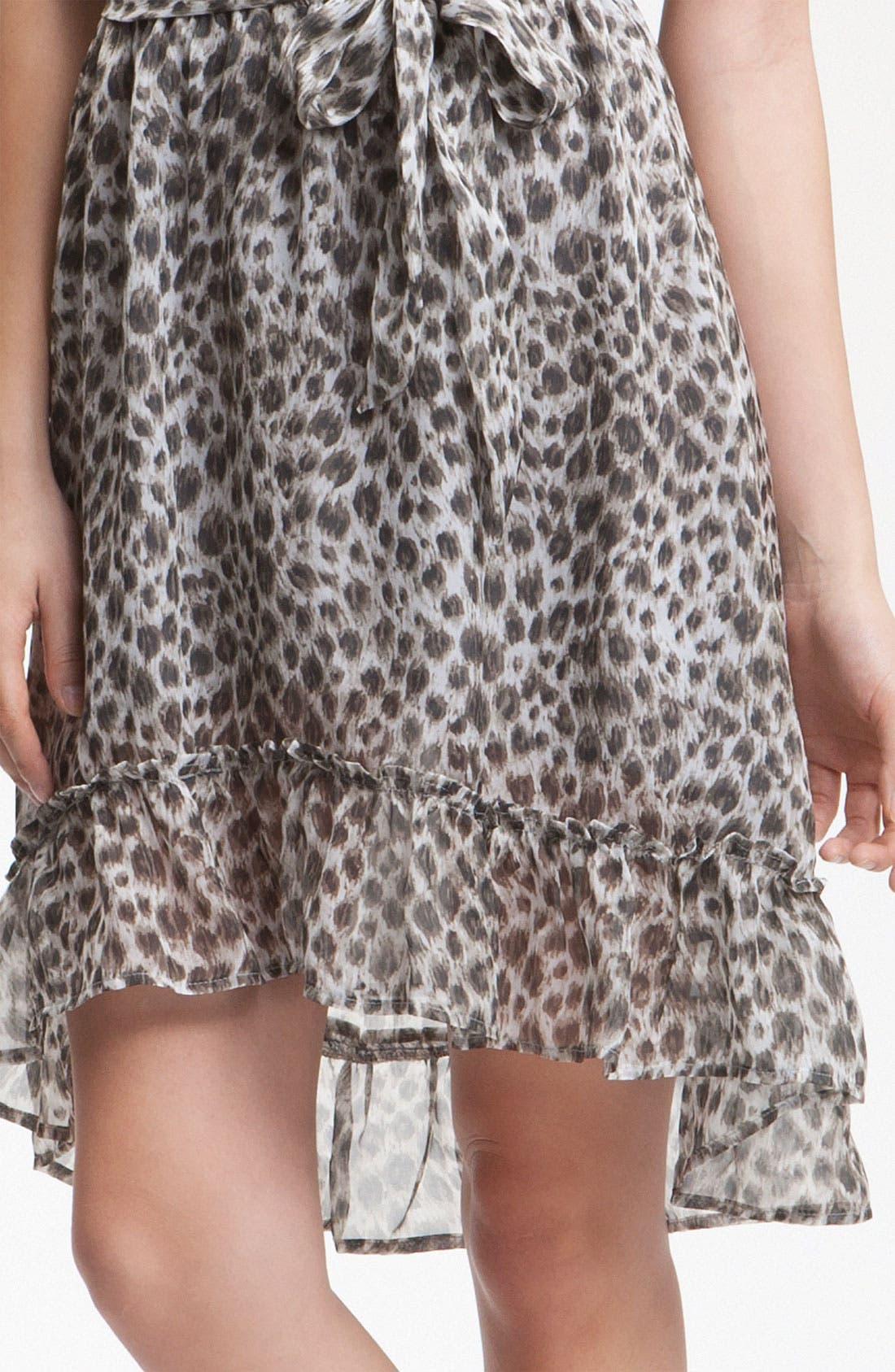 Alternate Image 3  - Charlie Jade 'Danya' Animal Print Silk Dress