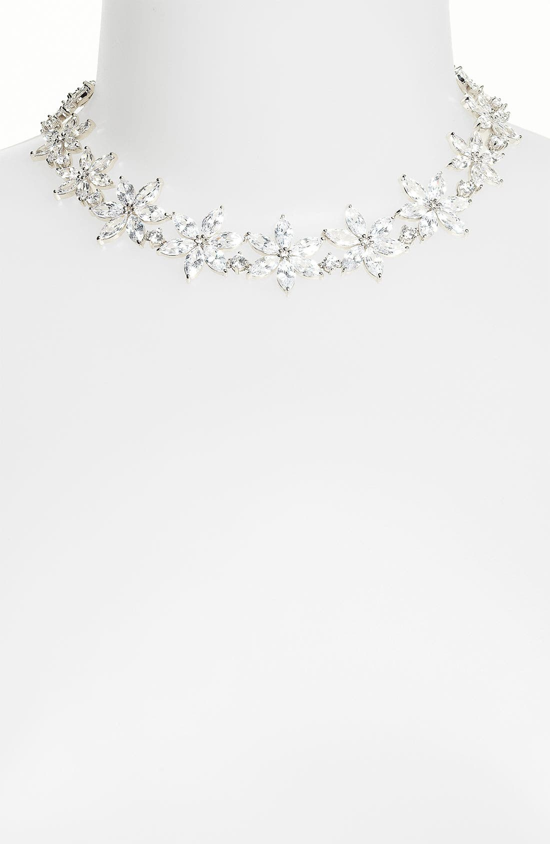 Alternate Image 1 Selected - CZ by Kenneth Jay Lane Navette Collar Necklace