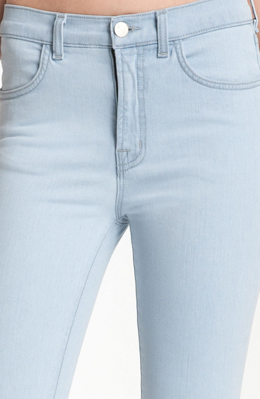 Alternate Image 3  - J Brand 'Maria' High Rise Skinny Leg Stretch Jeans (Iceland)