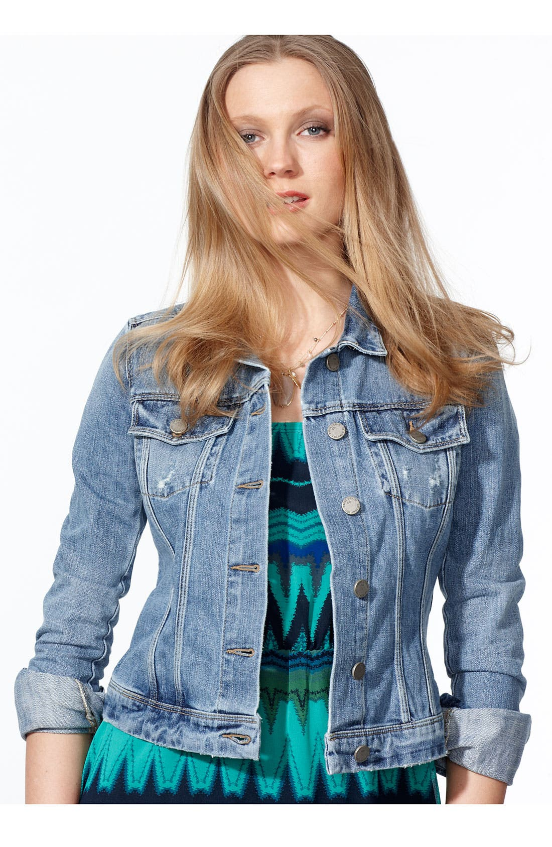 Alternate Image 3  - Paige Denim 'Vermont' Distressed Denim Jacket