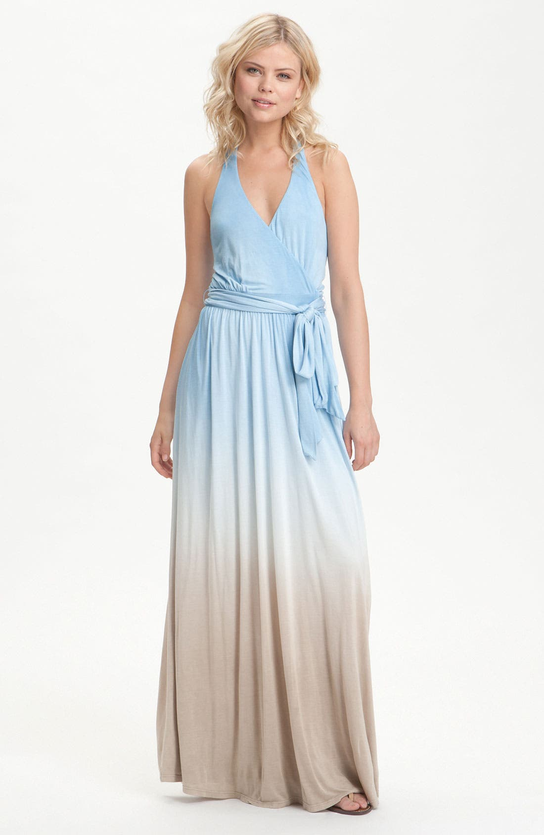 Main Image - Young, Fabulous & Broke 'Jeremiah' Ombré Halter Maxi Dress